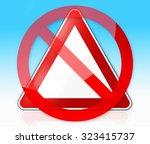 german traffic sign for...   Shutterstock . vector #323415737