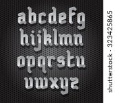 modern gothic style font with... | Shutterstock . vector #323425865