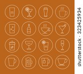 drink icons set | Shutterstock .eps vector #323425934