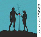 adam and eve | Shutterstock .eps vector #323436191