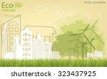 tree silhouette  home  city ... | Shutterstock .eps vector #323437925