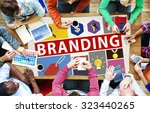 brand branding marketing... | Shutterstock . vector #323440265