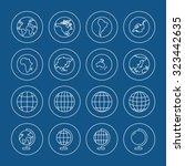 globe icons set | Shutterstock .eps vector #323442635