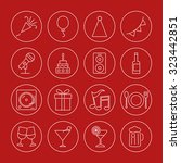 party icons set | Shutterstock .eps vector #323442851