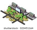 illustration of info graphic... | Shutterstock .eps vector #323451164