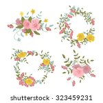 abstract floral composition... | Shutterstock .eps vector #323459231
