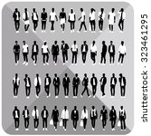 vector silhouettes of man... | Shutterstock .eps vector #323461295