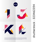 typographic alphabet in a set.... | Shutterstock .eps vector #323462354