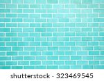 Turquoise New Brick Wall...