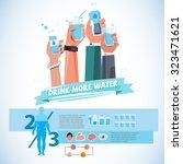 various smart hands holding... | Shutterstock .eps vector #323471621