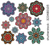 mandalas collection. round...   Shutterstock .eps vector #323480105