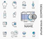 concept logos for business... | Shutterstock .eps vector #323490281