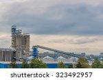 factory when sunset time     Shutterstock . vector #323492957