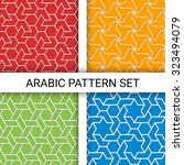 set of four geometric colorful... | Shutterstock .eps vector #323494079