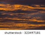 sunset sky dramatic background  ... | Shutterstock . vector #323497181