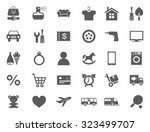 icons  online store  product...   Shutterstock .eps vector #323499707