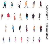 set of people. children  adults ...   Shutterstock .eps vector #323500097