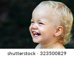 portrait about a little happy... | Shutterstock . vector #323500829