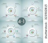 set of 4 modern infographics... | Shutterstock .eps vector #323502815