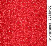 valentine seamless background.... | Shutterstock . vector #32350402