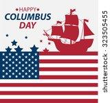 vector illustration columbus...   Shutterstock .eps vector #323505455
