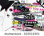 style word cloud concept.... | Shutterstock .eps vector #323513351