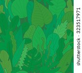 green tropical pattern. | Shutterstock .eps vector #323517971