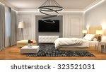 bedroom interior. 3d... | Shutterstock . vector #323521031