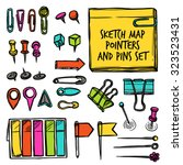 Colorful Set Drawn In Sketch...