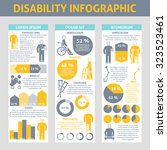 people with disabilities... | Shutterstock .eps vector #323523461
