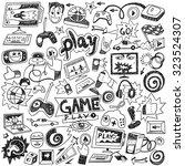 computer games doodles | Shutterstock .eps vector #323524307