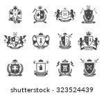 heraldic premium quality black... | Shutterstock .eps vector #323524439