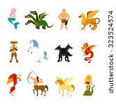mythical creatures and monsters ... | Shutterstock .eps vector #323524574