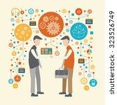 hand shake concept design on...   Shutterstock .eps vector #323526749