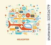 helicopter concept design on... | Shutterstock .eps vector #323526779