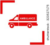 ambulance vector icon. | Shutterstock .eps vector #323527175