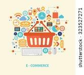 e commerce concept design on... | Shutterstock .eps vector #323527271