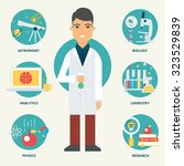 profession  scientist. vector... | Shutterstock .eps vector #323529839