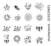 firework icon | Shutterstock .eps vector #323529851