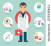 profession  doctor. vector... | Shutterstock .eps vector #323530811