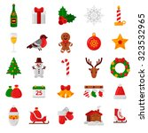 Set Of Flat Christmas Icons....