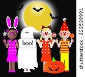 """boo"" Halloween Kids On Night..."