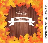 hello november. bright... | Shutterstock .eps vector #323542544
