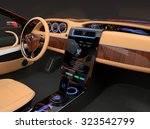 stylish electric car interior...