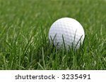 Golf ball found in the course - stock photo