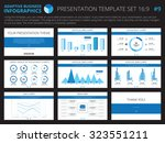 set of editable infographic... | Shutterstock .eps vector #323551211