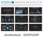 set of editable infographic... | Shutterstock .eps vector #323551349