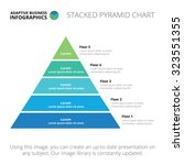 Stacked Pyramid Chart. Abstrac...