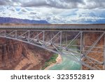 az a view of lee's ferry bridge | Shutterstock . vector #323552819