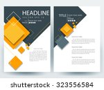 abstract vector modern flyers... | Shutterstock .eps vector #323556584